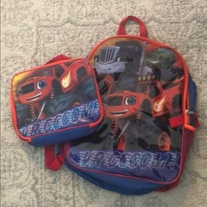 Blaze Backpack and Matching lunch box